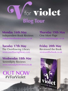 V For Violet blog tour banner