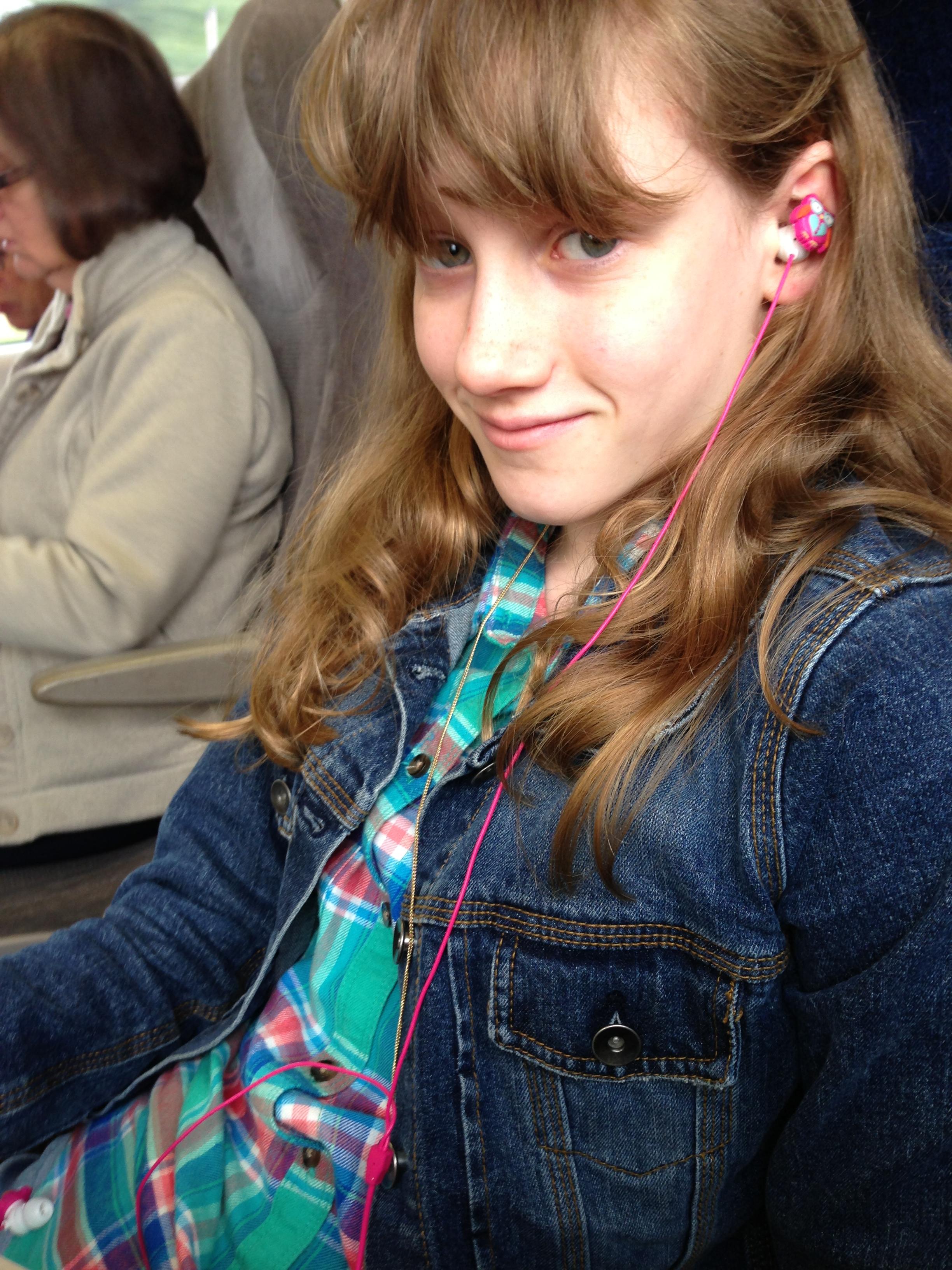 Natalya on train